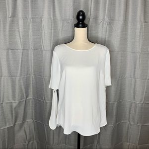 Ann Taylor blouse with tie sleeves size Medium